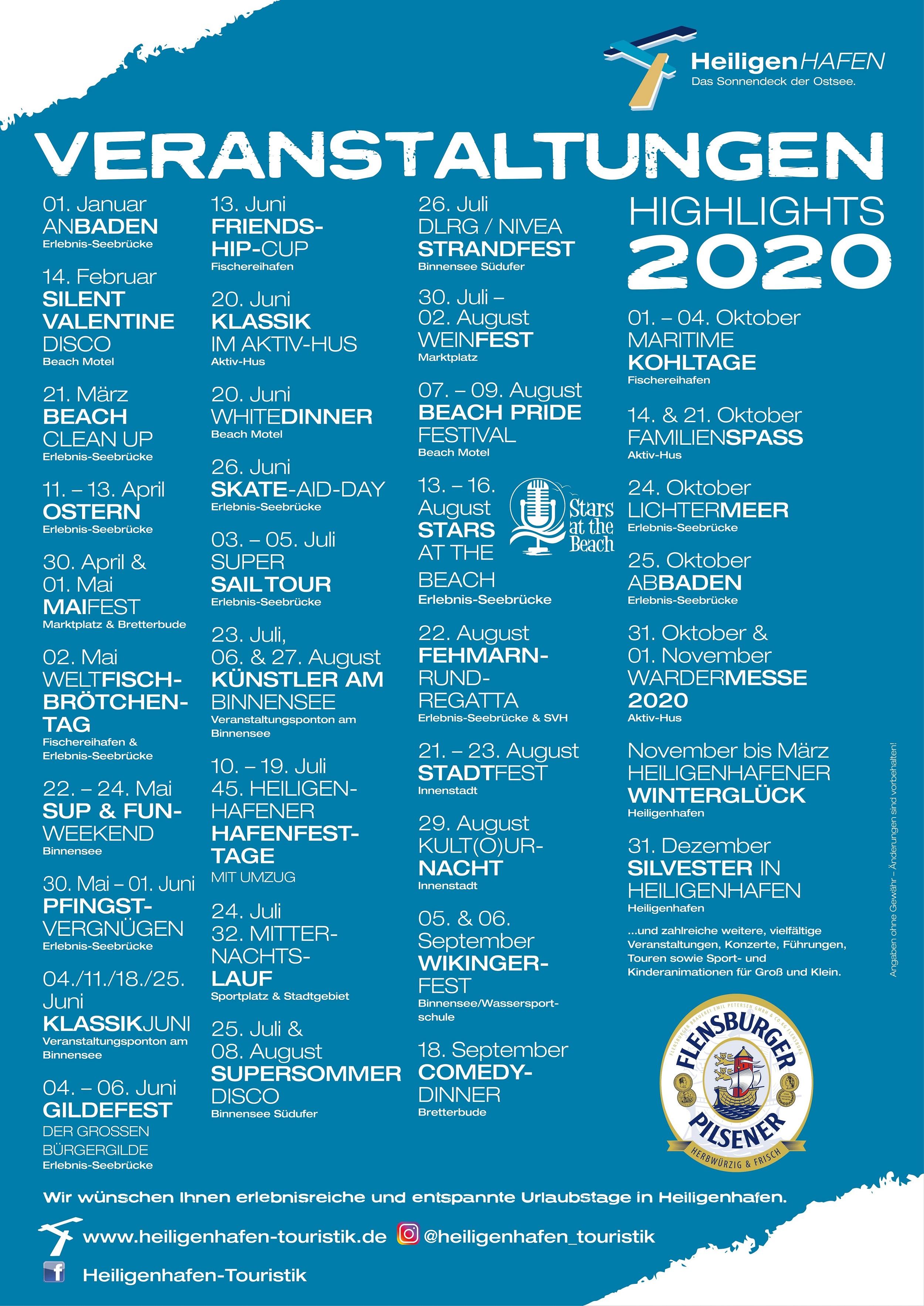 Veranstaltungen Heiligenhafen 2020